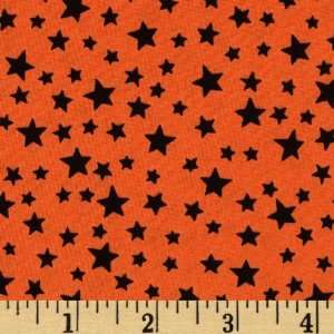 Boo Bears Stars Black/Orange Fabric By The Yard Arts, Crafts & Sewing