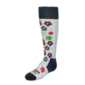 Hot Chillys Kid Flower Power Sock L (Fits Shoe Size 4 7