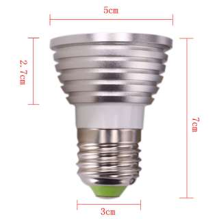Remote Control 16 Color E27 RGB LED Bulb Light 85 240V