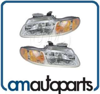 96 99 Chrysler Voyager Dodge Caravan Headlights Headlamps Left/Right