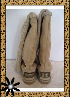 LOVE COLLECTIVE Tan Leg Warmer Over Knee High Boots 4.5