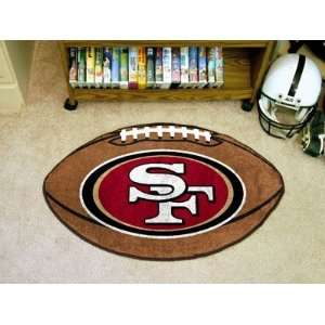 NFL San Francisco 49ers   FOOTBALL AREA RUG (22x35)