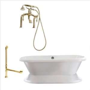 Giagni LW3  Wescott 72 Dual Tub with Deck Mount Faucet Faucet Finish