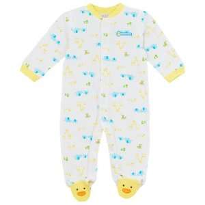 Carters Mommy Loves Me Footed Coverall   yellow/white, 3 months Baby