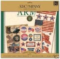 ARMY Military Scrapbook Page Kit 12X12 K & Company 643077670020