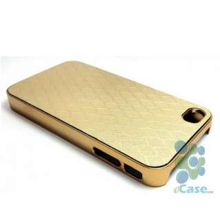 GOLD Golden Honeycomb Design Pattern Chrome Hard Snap Case Cover