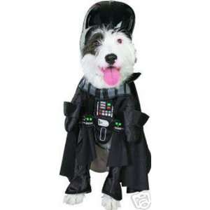 Dog Fancy Dress Costume Darth Vader Deluxe   Size Large