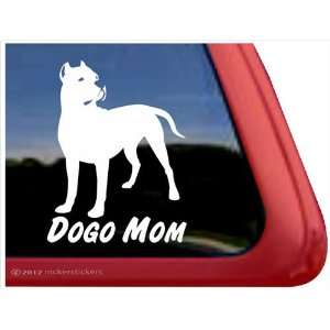 Dogo Mom ~ Dogo Argentino Vinyl Window Auto Decal Sticker