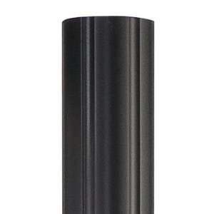 Quoizel PO9130K Outdoor Lighting Fluted Post Mount with Mystic Black