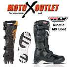 Fly Racing Maverik MX Boots Size 9 Bones Dirt Bike Motocross