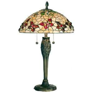 Dale Tiffany Lighting TT60496 Port Douglas Butterfly Two Light Table