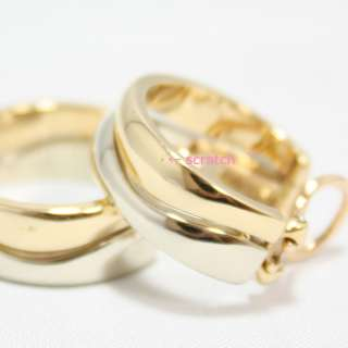 AUTH CARTIER 18K YELLOW & WHITE GOLD LOVE ME POST EARRINGS HEAVY 19