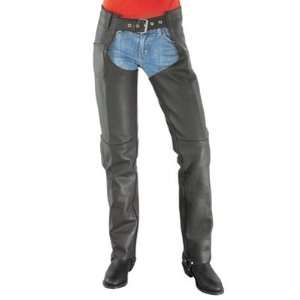 River Road Basic Ladies Leather Motorcycle Chaps Ladies