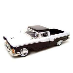 1957 Ford Ranchero White/black 118 Diecast Model Toys