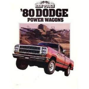 1980 DODGE POWER WAGONS Sales Brochure Literature Book