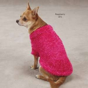 East Side Collection Cozy Hot Pink Fuzzy Dog Sweater Soft