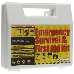 Emergency Survival And First Aid Kit, 50 Piece Kit Health & Personal