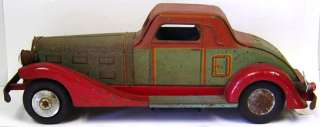 Vintage MARX Deluxe Coupe Tin Toy Car Electric Lights