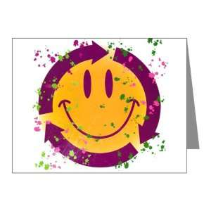 Note Cards (20 Pack) Recycle Symbol Smiley Face