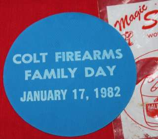 COLT Firearms Factory Family Day Jar Opener 1982
