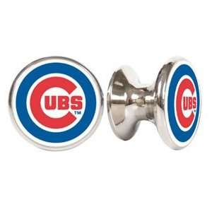 Chicago Cubs MLB Stainless Steel Cabinet Knobs / Drawer Pulls (2 pack