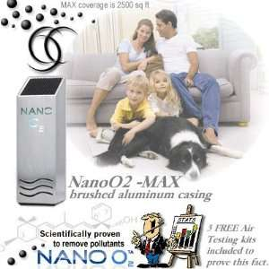 NanoO2 MAX Air Purifier in Brushed Aluminum Casing
