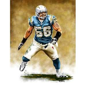 Large Shawne Merriman San Diego Chargers Giclee  Sports