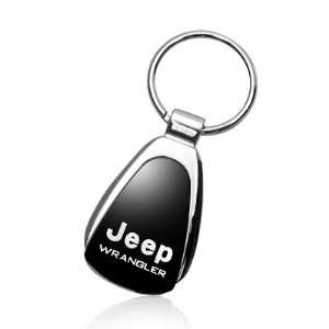 Jeep Wrangler Black Tear Drop Key Chain Automotive