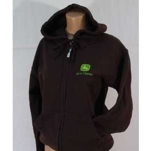 John Deere Gildan Heavy Blend Full Zip Hooded Sweatshirt