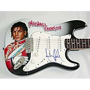 MICHAEL JACKSON Autographed Signed AIRBRUSH Guitar UACC