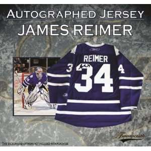 James Reimer Autographed/Hand Signed Jersey Maple Leafs