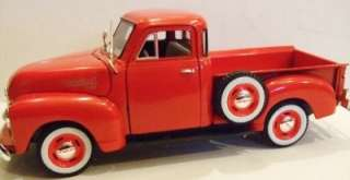 NATIONAL MOTOR MINT 1953 CHEVY RED PICKUP DIECAST TRUCK 132 SCALE NEW
