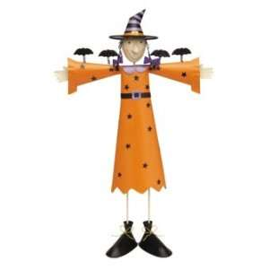 of 4 Standing Scarecrow Style Witch Halloween Decor