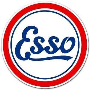 Esso GAS Gasoline Station Racing Car Bumper Sticker Decal