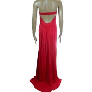 House of Dereon Sexy Long Red Strapless Formal Gown 12