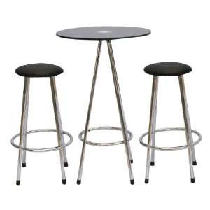Yuan Tai Holmes 3 Pc Pub Set Table, 2 Barstools