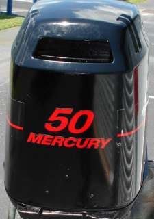 AUTHENTIC 40 HP MERCURY MARINE OUTBOARD MOTOR DECAL KIT