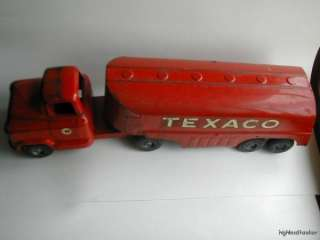 Buddy L Texaco Tanker Truck 24in. Pressed Steel 1950s Vintage Toy