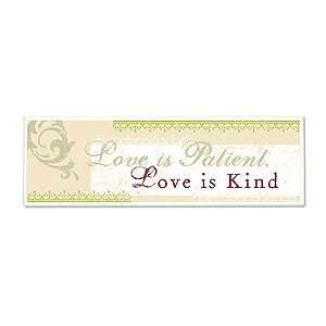 of Faith Mt254 Love Is Patient, Love Is Kind Plaque