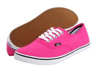 Vans Authentic Lo Pro Fuchsia Purple Slim Skate Shoes