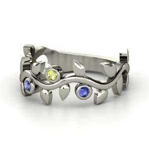 Liana Ring with Three Gems, Sterling Silver Ring with
