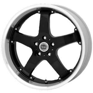 American Racing Rebel 18x9 Black Wheel / Rim 5x4.75 with a 25mm Offset