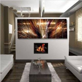 Contemporary Wall Art. Modern Painting on Metal by artist