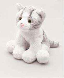 Yomiko Classics Grey & White Cat Soft Plush Toy Called Molly Small