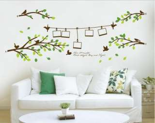 Frame Tree Birds Words Art Mural Wall Vinyl Sticker Wall Decal