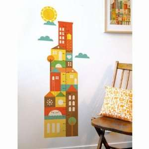 City Growth Chart Fabric Wall Decals
