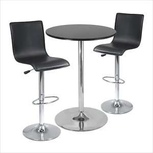 Winsome Spectrum High Back 3 PC /Bar Table Pub Set 021713933454