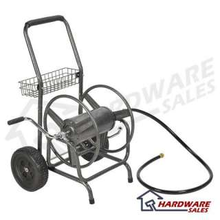50204210 Compact 150 ft Outdoor Garden Water Hose Reel Cart