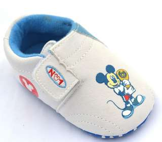 White new infants toddler baby boy walking shoes size 0 18 months