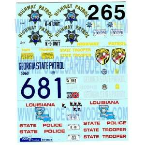 Georgia   Louisiana   Maryland State Police Decals